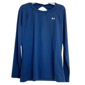 Women's UA Navy Long Sleeve Shirt